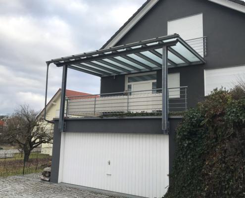 Pult Terrassendach Stahl