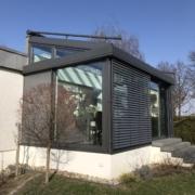 Wohnwintergarten mit Glasdach
