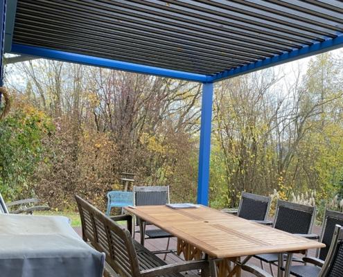 Lamellen Terrassenüberdachung drehbar