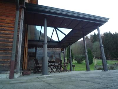 Terrassenüberdachung Vintage Stil