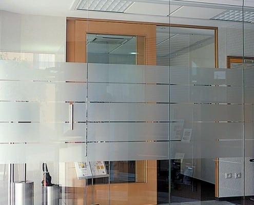 Trennwand aus Glas